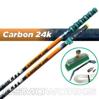 Unger New nLite Carbon 24K Complete Startset 11,8 m swivelborstel | Glazenwasserswinkel.nl