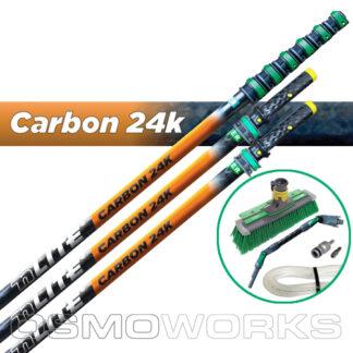 Unger New nLite Carbon 24K Complete Startset 15 m swivelborstel | Glazenwasserswinkel.nl