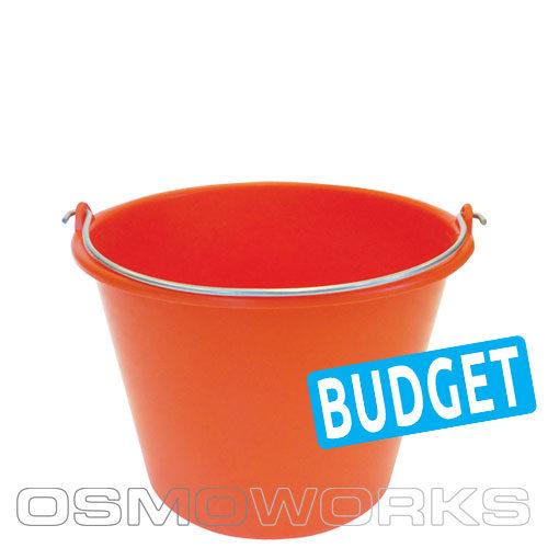 Emmer oranje 12 liter | Glazenwasserswinkel.nl