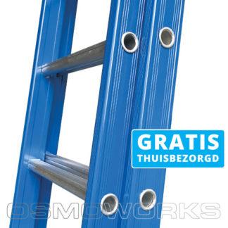 ASC Premium Ladders tweedelig 2x8 - Opstap 25 cm   Glazenwasserswinkel.nl