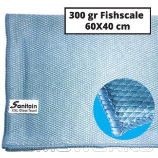 Sanitain Fishscale 60x40 cm | Glazenwasserswinkel.nl