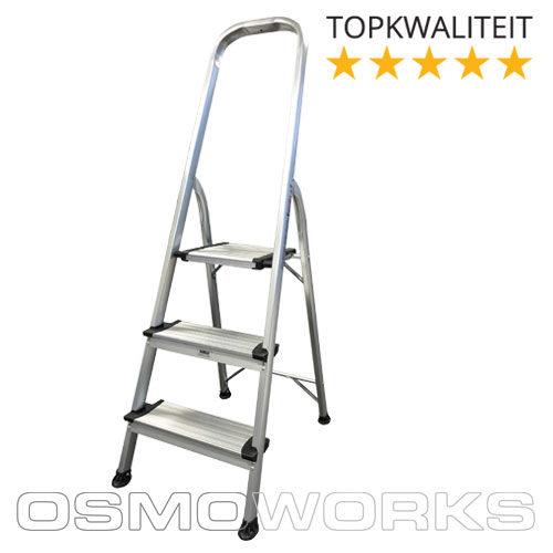 Osmoworks Huishoudtrap 3 treden | Glazenwasserswinkel.nl