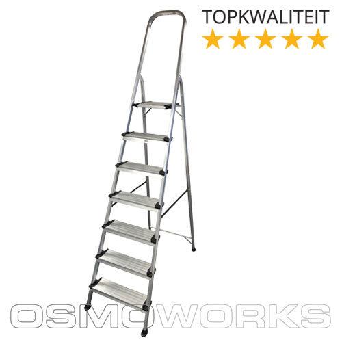 Osmoworks Huishoudtrap 7 treden | Glazenwasserswinkel.nl