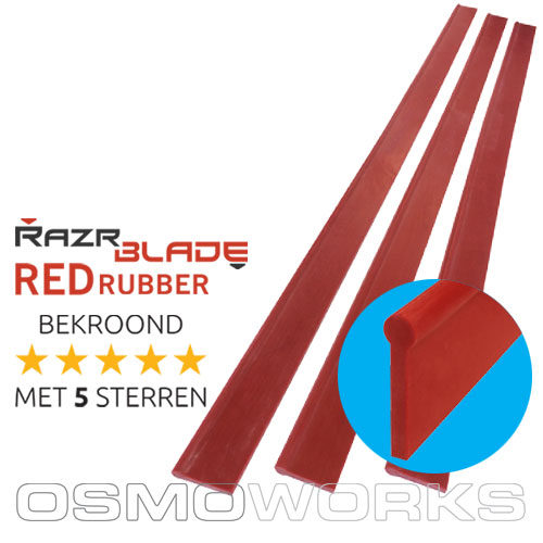 RazrBLADE RED rubber 45 cm | Glazenwasserswinkel.nl