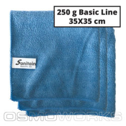 Sanitain Microvezeldoek Basic Line BoyBlue | Glazenwasserswinkel.nl