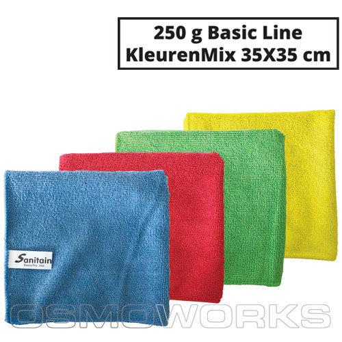 Sanitain Microvezeldoek Basic Line Kleurenmix | Glazenwasserswinkel.nl