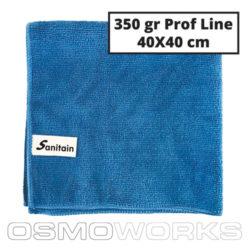 Sanitain Microdoek Blauw 50 stuks | Glazenwasserswinkel.nl