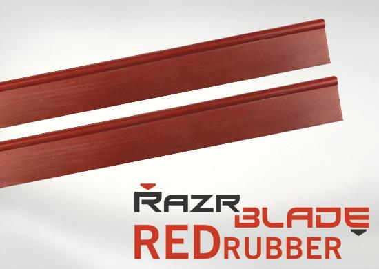 RazrBlade Red wisser rubbers